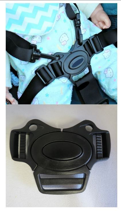 5 Point Harness Buckle w Straps Replacement for Baby Trend Bolt Child Strollers