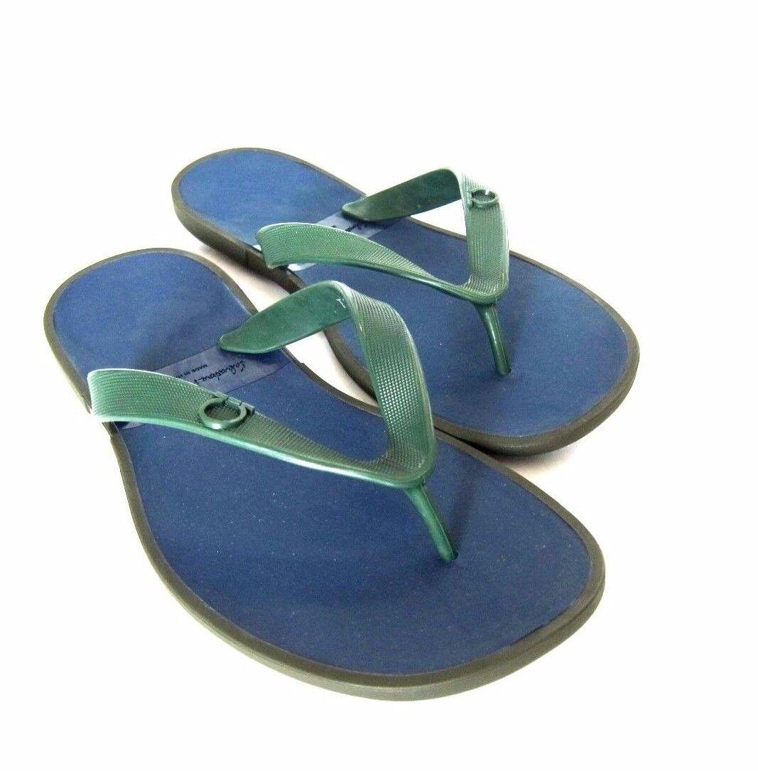 a1df98b21aca1f S-1047968 New Salvatore Ferragamo Gym Dark Ivy Ivy Ivy Rubber Sandal Shoes  Size US