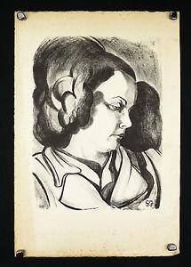 Georges-JOUBIN-1888-1983-MONOTYPE-portrait-Portrat-ritratto-Digny-art-deco