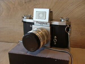 Praktica-SLR-Praktica-FX-Kit-Zeiss-Tessar-2-8-50mm-034-Sammlerstueck-034-TOP