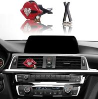 Bling Bling Car Accessories Interior Decoration For Girls Women - Red Lip+heart
