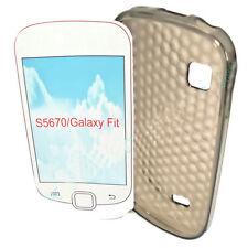 SILICONE TPU per cellulare Cover Case Guscio in Smoke per Samsung s5670 Galaxy Fit