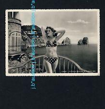 CAPRI Fifties' Bikini Girl at the Coast * Foto-AK um 1950