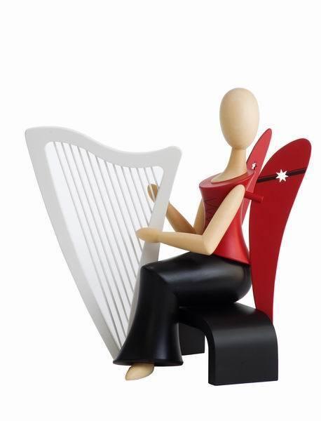 STERNKOPF-Ange avec harpe assis 15,5 cm Les Monts Métallifères STERNKOPF Ange Gahlenz NEUF