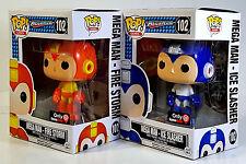FUNKO POP Mega Man Fire Storm & Mega Man Ice Slasher Exclusives Pop! Games