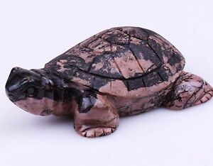Japan-Antique-Handcarved-Rhodonite-tortoise-statue-late-19th-Century