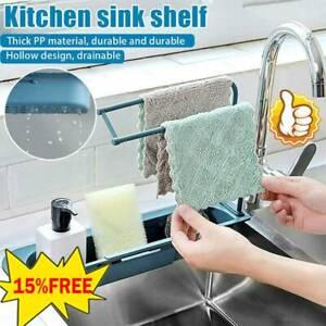 Telescopic-Sink-Rack-Holder-Expandable-Storage-Drain-Basket-Kitchen-Home