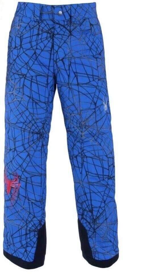 SPYDER Boy's MARVEL HERO Ski Snowboard Pants Size Kid's 18 bluee 179222  NWT