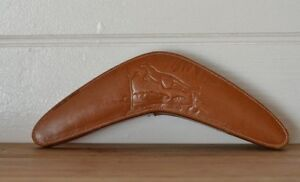 Vintage-leather-boomerang-lint-shoe-brush-kangaroo-Hickok-australiana