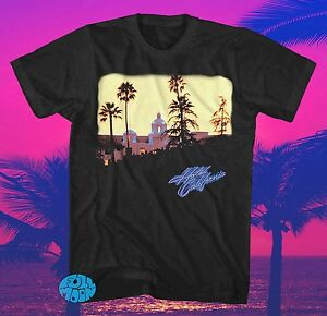 New-The-Eagles-Hotel-California-Authentic-Retro-Vintage-Mens-Black-T-Shirt