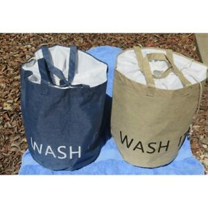 Details About 1 X Canvas Waterproof Laundry Bag With Handles Clearance