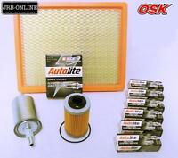 Holden Adventra Ute 3.6l V6 Oil Air Fuel Filter Service Kit + Spark Plugs 05-07