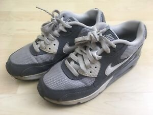 Details about Nike Air Max 90 Mesh Shoes Youth Size 4Y US 36 EUR Low Top Gray White 724824 003