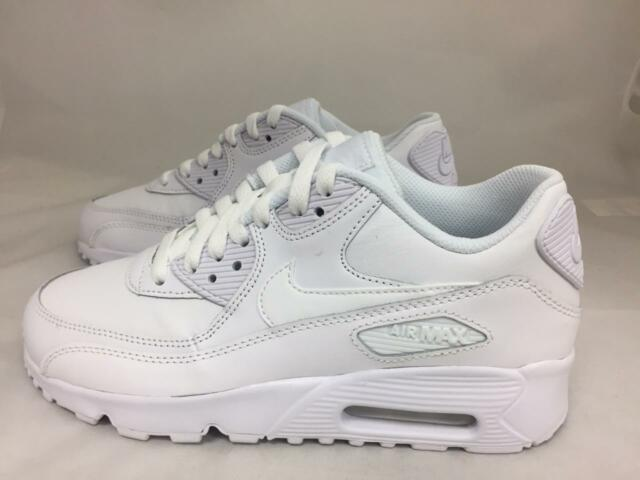 Nike Air Max 90 Triple White Size 6y Shoes SNEAKERS 833412-100 GS