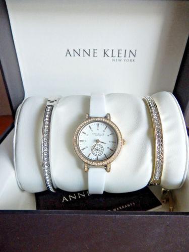 Anne Klein Watch Bracelet Set Women S 12 2248wtst 28mm Ceramic Gold