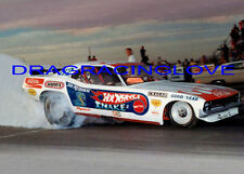 """Don """"the Snake"""" Prudhomme 1972 """"Hot Wheels"""" Plymouth 'Cuda Funny Car PHOTO!"""
