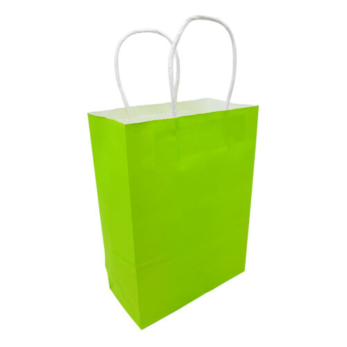 Kraft Paper Bags With Handle Birthday Loot Gift Party Wedding Baby Shower BULK