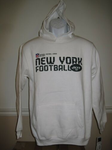 Neuf- New York Jets Jeune Pointures S-L Reebok Blanc Sweat à Capuche