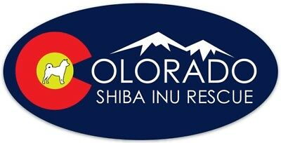 Colorado Shiba Inu Rescue Proceeds go to rescue Shibas Bumper Sticker-Circle