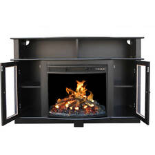 TV Stand Entertainment Center Media Console Shelves Electric Fireplace Black New