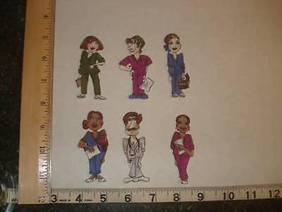 6 Loralie Nurses Fabric Applique Iron On Ons