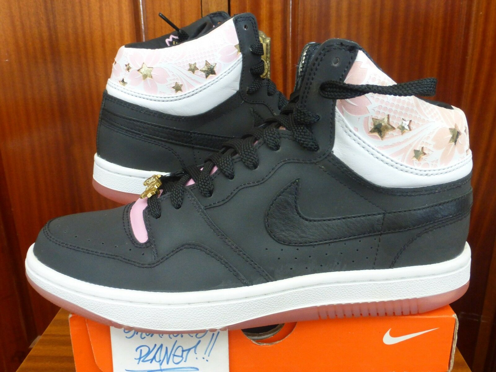 2007 DS NIKE COURT FORCE SAKURA NEW US 9 UENO BLACK PINK PARTY 316384-002