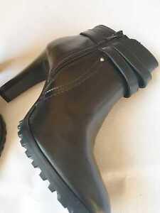 K by Kookai Ladies Black Ankle Boots