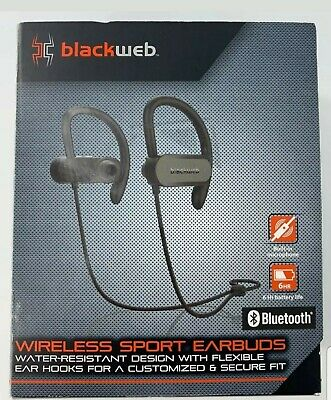 Blackweb Wireless Sport Earbuds Black Free Shipping 681131010573 Ebay