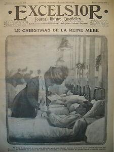 WW1-N-1878-REINE-ALEXANDRA-HOPITAUX-RECRUES-ANGALISES-JOURNAL-EXCELSIOR-1916