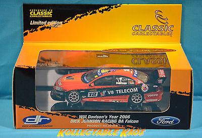 1:43 Classics - 2006 Ford BA Falcon - Dick Hohnson Racing - Will Davison - NEW