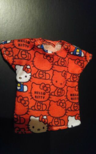 NEW IN BOX RED HELLO KITTY top for Barbie doll FITS CURVY DOLL