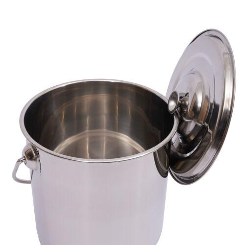 12L Küche Eiswürfeleimer Wassereimer Edelstahl Eisbehältermit Deckel DHL DE