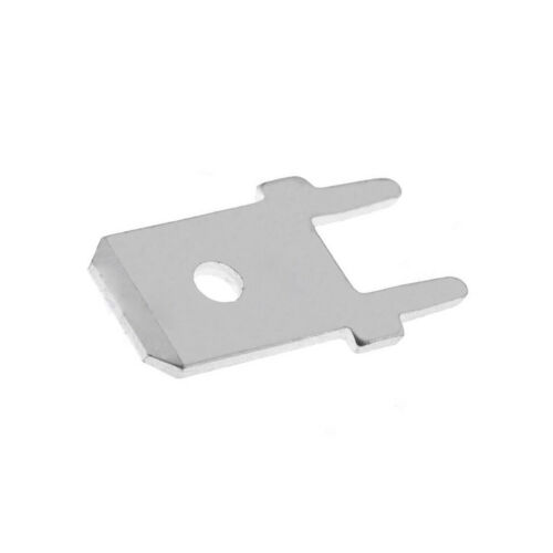 40X 3866A.68 Verbinder flach 6,3mm 0,8mm männlich THT verzinnt Messing VOGT