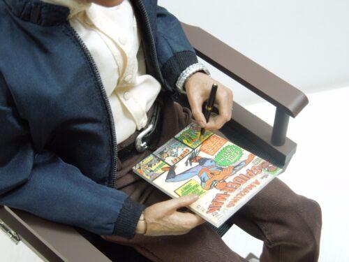 1//6 Scale Custom Magazines Comics et photos autographe Set pour Hot Toys Stan Lee