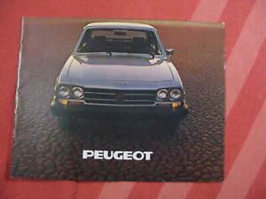 Peugeot 504 brochure catalog USA market 1978