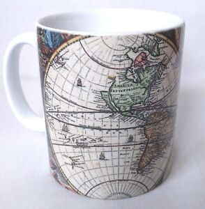 Vintage Maps World Map Antique Maps Coffee Tea Mug Cup