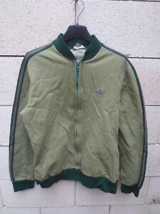 Détails sur Veste ADIDAS vintage 70's Trefoil jacket Ventex tracktop jacke vert kaki rare S