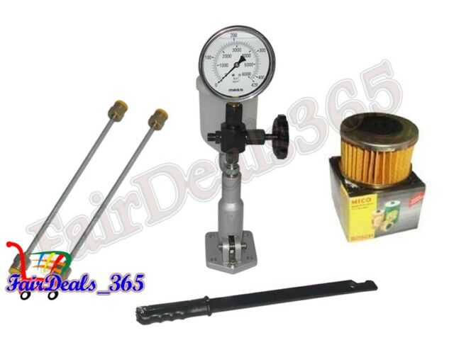 DIESEL INJECTOR NOZZLE TESTER GLYCERIN FILLED DUAL SCALE 0 - 420 BAR /PSI GAUGE