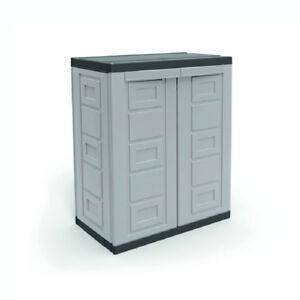 Image Is Loading Contico 2 Shelf Plastic Garage Home Storage Organizer