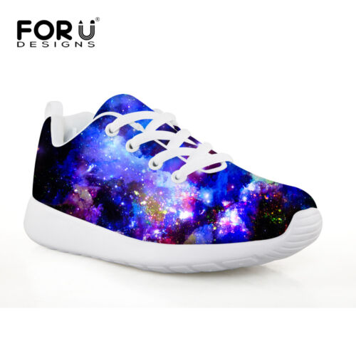 Galaxy Style Kids Shoes Mesh Lace-up Casual School Sport Sneaker Running Trainer