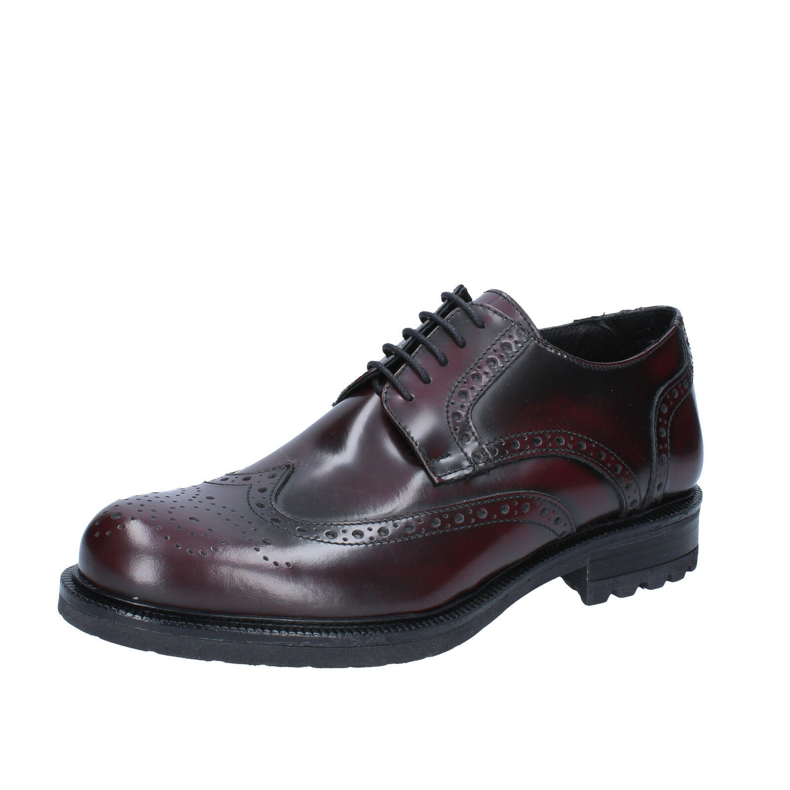 Man zapatos except Baron 40 Classic Bordeaux Leather Glossy bz194-b