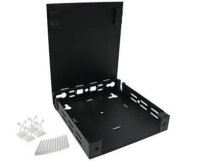 Steel – 4296 Fiber Optic Enclosure 1 splice tray Compact Wall Mount 6 ports