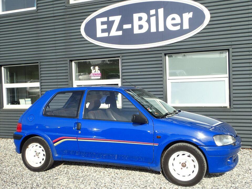 Peugeot 106 1,6 Rallye Benzin modelår 1997 km 241000 Blå ABS