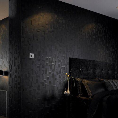 Malla papel pintado estructura negro a cuadros seidenglänzend geométricamente 30-178 checker