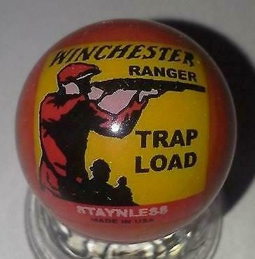 Very Nice Winchester Trap Load White Glass Marbles