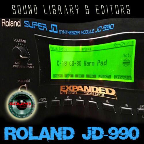 Für Roland U-110 Original Factory und Neu Created Sound Bibliothek /& Editors