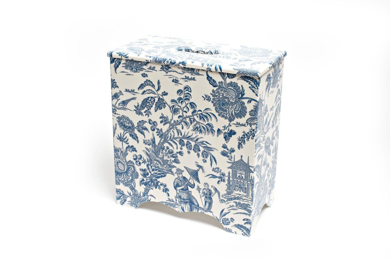 Toilet roll holder Blau Oriental Wooden handmade ideal for bathrooms handmade