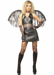 Image is loading FALLEN-ANGEL-RUBIES-HALLOWEEN-COSTUME-CUTE-TEENS-SCARY-  sc 1 st  eBay & FALLEN ANGEL RUBIES HALLOWEEN COSTUME CUTE TEENS SCARY DARK ANGEL ...