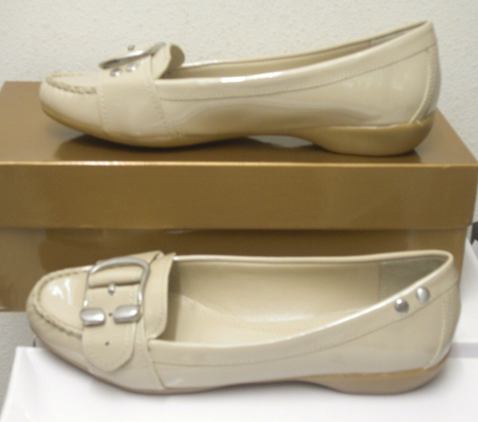 ELLEN TRACY TRACY TRACY (EB-BALDWIN PATENT LEATHER DESERT SAND ) SIZE 6.5 BRAND NEW a3eef0