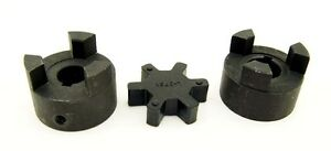 3-4-034-L075-Flexible-3-Piece-L-Jaw-Coupling-Set-amp-Buna-N-NBR-Rubber-Spider